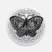 April Birthstone Butterfly  Ornament (Round)