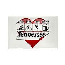 Tennessee Swim Bike Run Drink Rectangle Magnet