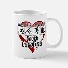 South Carolina Swim Bike Run Drink Mug