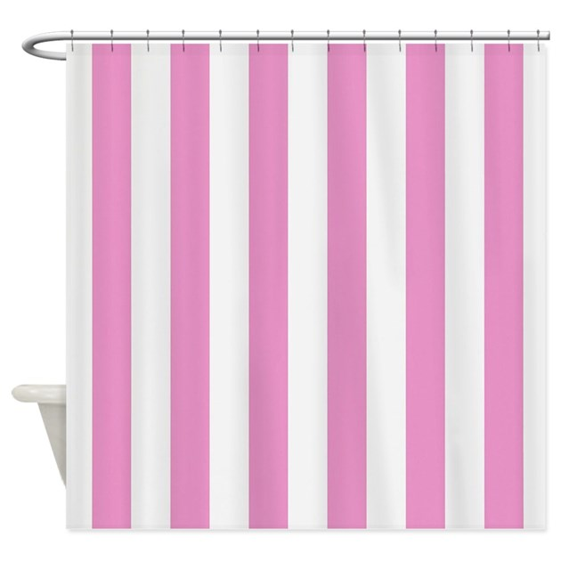 Candy Stripe Pink Shower Curtain By Stripstrapstripes