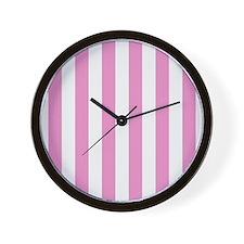 Candy Stripe Pink Wall Clock