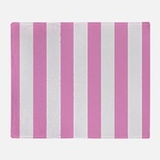 Candy Stripe Pink Throw Blanket