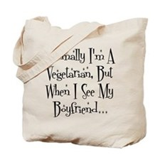 Normally I'm a Vegetarian Tote Bag