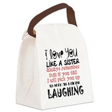 like a sis Canvas Lunch Bag