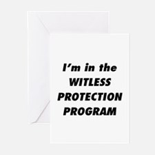 Witless Protection 1 Greeting Cards (Pk of 10