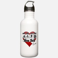 New York Swim Bike Run Water Bottle