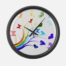 Butterflies Large Wall Clock