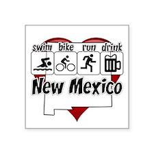 """New Mexico Swim Bike Run Dr Square Sticker 3"""" x 3"""""""