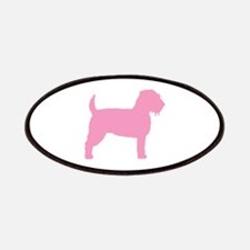 Pink Wheaten Terrier Silhouette Patches