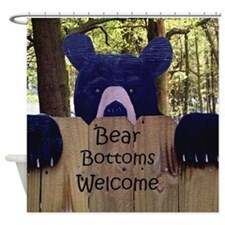 Bear Bottoms Welcome Shower Curtain