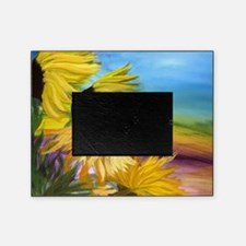 Sunflower field art Picture Frame