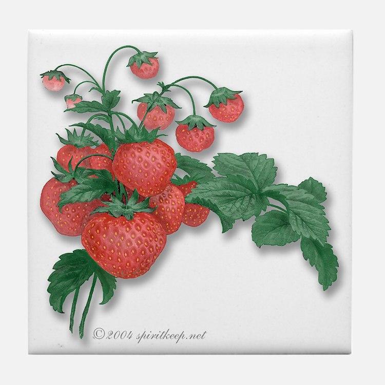Strawberries! Tile Coaster