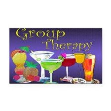 Group Therapy Rectangle Car Magnet