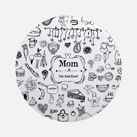 Best Mom in the World Ornament (Round)