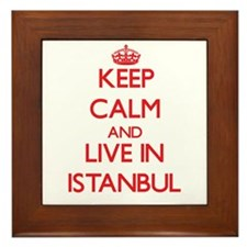 Keep Calm and Live in Istanbul Framed Tile