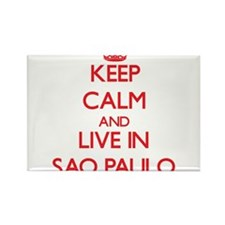 Keep Calm and Live in Sao Paulo Magnets