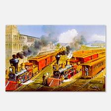 Railroad Train Scene Postcards (Package of 8)