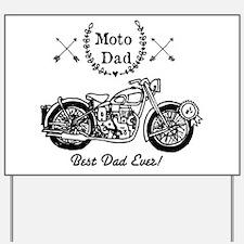Moto Dad Yard Sign