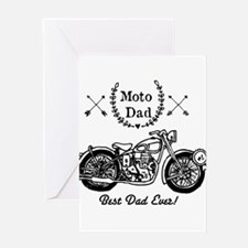 Moto Dad Greeting Cards