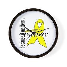 Awareness 1 Endometriosis Wall Clock