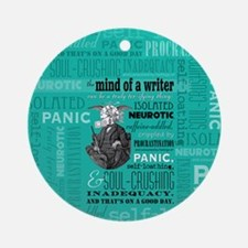 The Mind Of A Writer Ornament (Round) Ornament (Ro