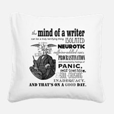 The Mind of a Writer Square Canvas Pillow