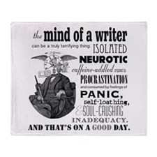The Mind Of A Writer Throw Blanket