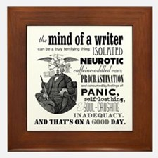 The Mind Of A Writer Framed Tile