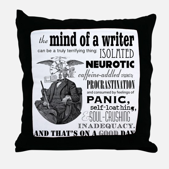 The Mind of a Writer Throw Pillow