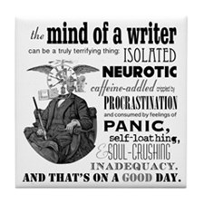 The Mind Of A Writer Tile Coaster