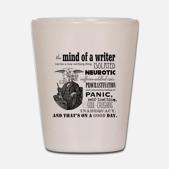 The Mind of a Writer Shot Glass