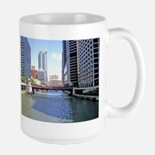 Downtown Chicago Waterscape Mugs