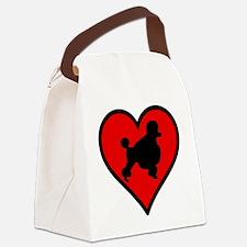 Poodle Lover Canvas Lunch Bag
