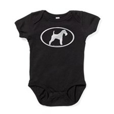 Wire Fox Terrier Oval Baby Bodysuit