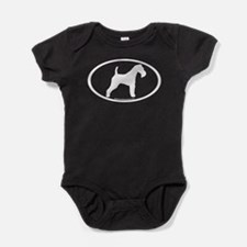 Wire Fox Terrier Oval Baby Bodysuit