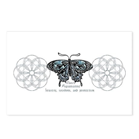 March Birthstone Butterfly Postcards (Package of 8