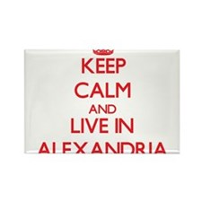 Keep Calm and Live in Alexandria Magnets