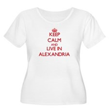 Keep Calm and Live in Alexandria Plus Size T-Shirt