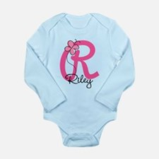 Personalized Monogram Long Sleeve Infant Bodysuit