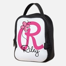 Personalized Monogram Letter R Neoprene Lunch Bag