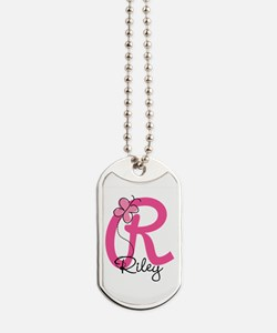 Personalized Monogram Letter R Dog Tags