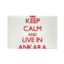 Keep Calm and Live in Ankara Magnets