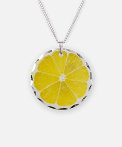 Yellow Lemon Slice Necklace