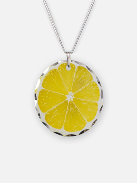 Yellow Lemon Slice Necklace