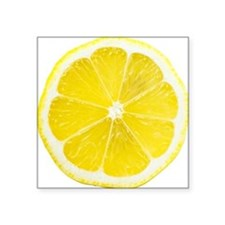 "Yellow Lemon Slice Square Sticker 3"" x 3"""