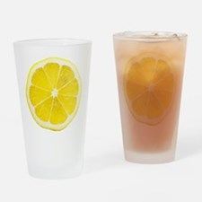 Yellow Lemon Slice Drinking Glass