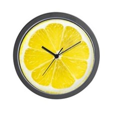 Yellow Lemon Slice Wall Clock
