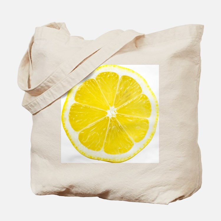 Yellow Lemon Slice Tote Bag