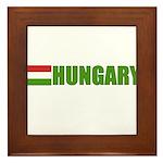 Hungary Flag Framed Tile