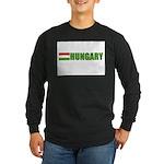 Hungary Flag Long Sleeve Dark T-Shirt